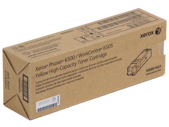 Картридж Xerox 106R01603 для Phaser 6500 WC6505 желтый