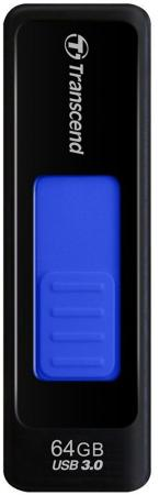 Флешка USB 64Gb Transcend Jetflash 760 USB3.0 TS64GJF760 черно-синий usb флешка transcend jetflash 360 16gb черно зеленый