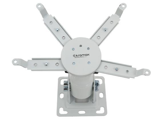 Кронштейн Kromax PROJECTOR-10 белый для проекторов потолочный 3 ст наклон кронштейн kromax projector 100 белый для проекторов потолочный 3 ст свободы до 20 кг