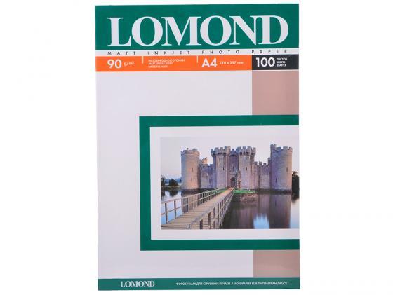 Фотобумага Lomond А4 90г/кв.м односторонняя матовая 100л 0102001 фотобумага lomond а4 85г м2 глянцевая 100л 102145