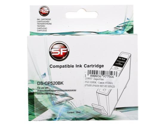 Фото - Картридж SuperFine PGI-520BK для Canon PIXMA iP3600 iP4600 MP540 MP620 MP630 MP980 черный CP520BK картридж canon pgi 520bk 2932b012 x2 для canon pixma ip3600 4600 mp540 620 черный