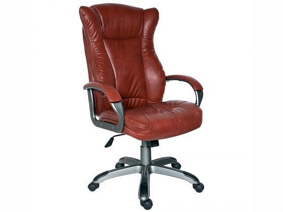 Кресло Buro CH-879DG/Brown искусственная кожа коричневый пластик темно-серый