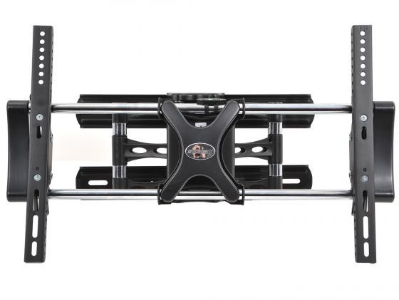 Кронштейн Tuarex OLIMP-8007 Черный от 32 до 55 VESA min 200x200 max 600x400 наклонный до 60кг кронштейн tuarex olimp 8002 черный 37 63 1 степень свободы vesa 700х500мм до 80кг