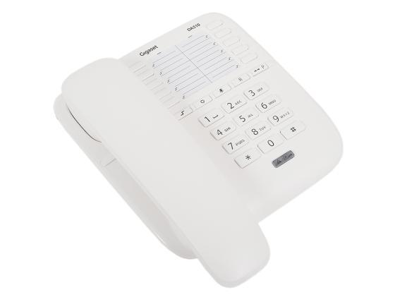 Телефон Gigaset DA510 белый ip телефон gigaset a540 ip