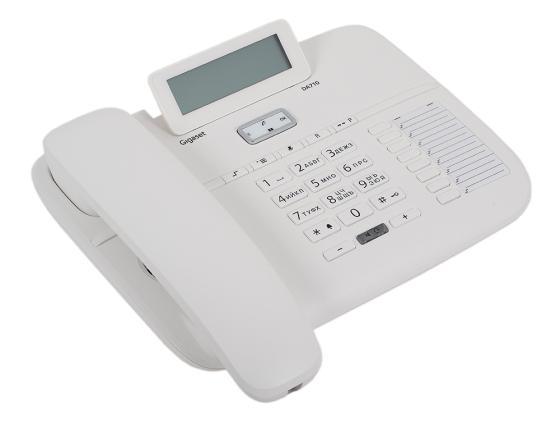 Телефон Gigaset DA710 белый телефон gigaset c530