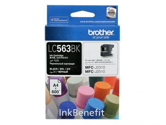 Картридж Brother LC563BK для MFC-J2510 Черный картридж brother lc565xlm magenta для mfc j2510 mfc j2310 mfc j3720 mfc j3520
