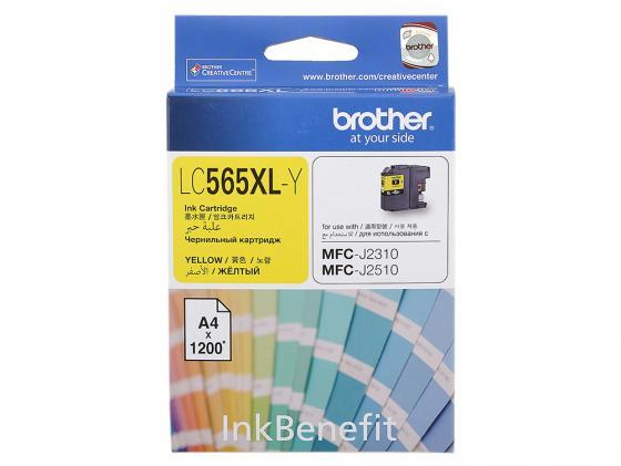 Картридж Brother LC565XLY для MFCJ2510 желтый 1200стр картридж для принтера brother lc565xly yellow