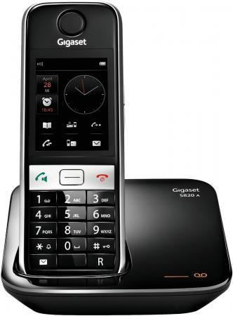 Радиотелефон DECT Gigaset S820A черный