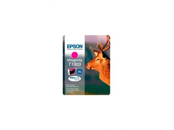 Картридж Epson C13T13034010/4012 T1303 для SX525WD SX620FW BX525WD BX625FWD Magenta Пурпурный gzlspart for epson r1390 r 1390 original used formatter board printer parts on sale