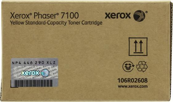 Картридж Xerox 106R02608 для Phaser 7100 желтый 4500стр картридж original xerox [113r00692] для xerox phaser 6120 black 4500стр