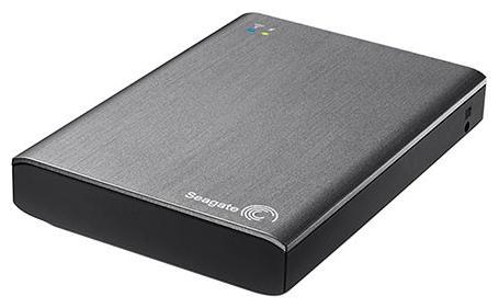 Внешний жесткий диск 2.5 USB3.0/Wi-Fi 1 Tb Seagate Wireless Plus mobile device storage STCK1000200 черный