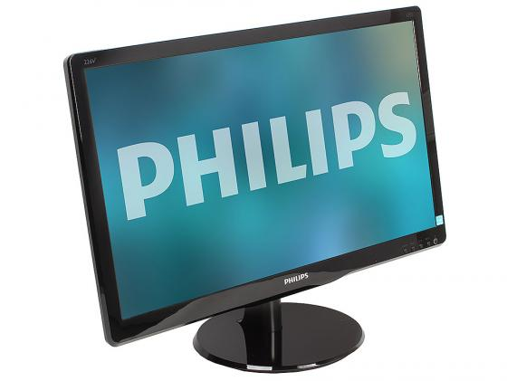 Монитор 22 Philips 226V4LSB00/01 черный TFT-TN 1920x1080 250 cd/m^2 5 ms VGA DVI монитор 21 5 hp 22kd t3u87aa черный tft tn 1920x1080 200 cd m^2 5 ms vga