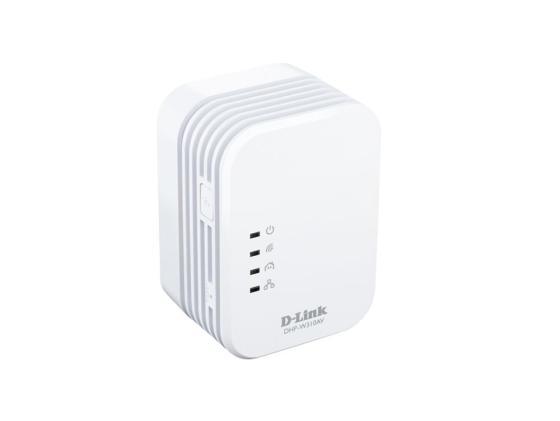 Адаптер Powerline D-Link DHP-W310AV 802.11n 200Mbps адаптер powerline d link dhp 346av a1a powerline коммутатор с поддержкой homeplug av