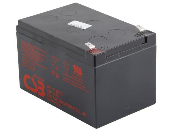 Батарея CSB GP12120 F2 12V/12AH батарея 3cott 12v 12ah rt12120 12v12ah 2ohr