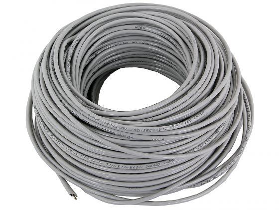 Кабель U/UTP indoor 4 пары категория 5e 5bites одножильный 24AWG CCA PVC 100м серый US5505-100A
