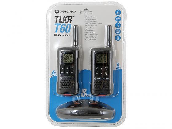Радиостанция Motorola TLKR-T60 черный радиостанция motorola tlkr t80 2 штуки