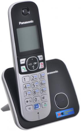 Радиотелефон DECT Panasonic KX-TG6811RUB черный телефон беспроводной dect panasonic kx tg6811rub grey metallic black