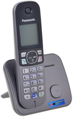 Радиотелефон DECT Panasonic KX-TG6811RUM серебристый радиотелефон dect panasonic kx tg2512rus серебристый