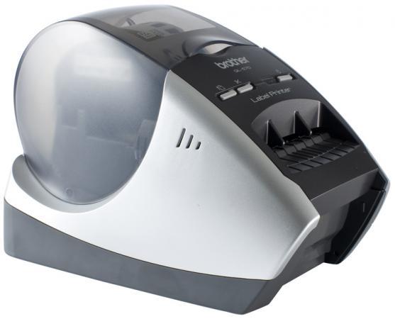 Купить со скидкой Принтер для печати наклеек Brother QL-570 авторезак ширина лент до 62мм до 68 наклеек/мин 110мм/сек