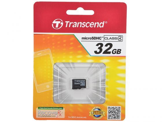 Карта памяти Micro SDHC 32GB Class 4 Transcend TS32GUSDC4 transcend sdhc class 10 32gb карта памяти