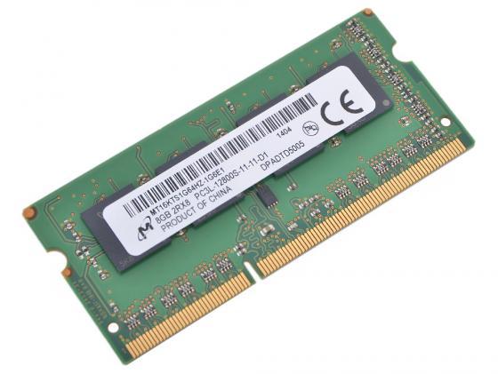 Оперативная память для ноутбуков SO-DDR3 8Gb PC12800 1600MHz Crucial CT102464BF160B память ddr3l 8gb 1600mhz crucial ct102464bf160b rtl pc3 12800