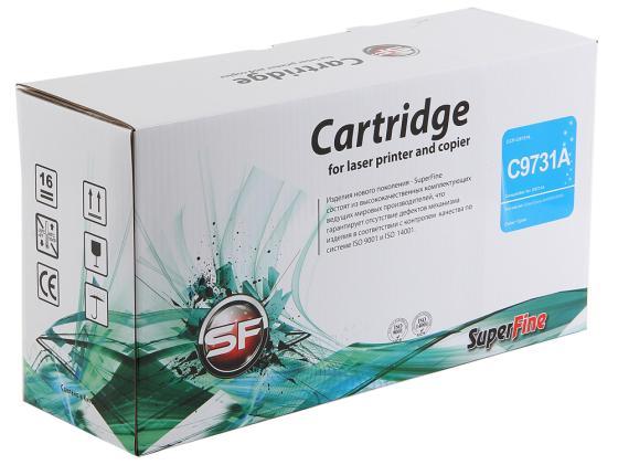 Фото - Картридж SuperFine C9731A для HP Color LJ 5500 5550 Голубой 12000стр картридж t2 tc h9732r для для hp color laserjet 5500 5550 12000стр желтый