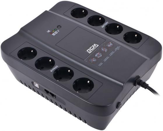 ИБП Powercom SPD-850U Spider 850VA/510W USB AVR RJ11 RJ45 4+4 EURO output