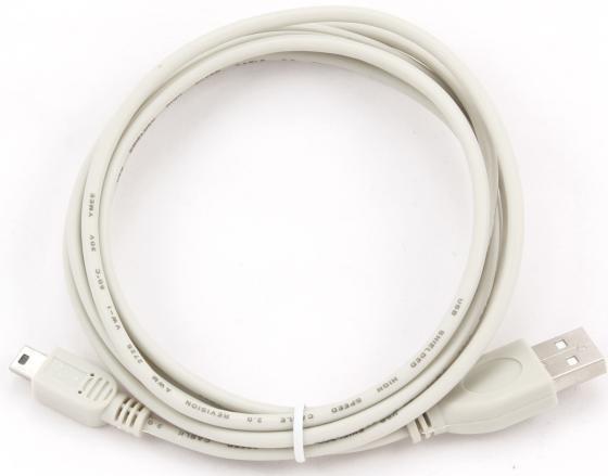 Кабель miniUSB 1.8м Gembird круглый CC-USB2-AM5P-6 hantek6254bd oscilloscope 4 channels 6254bd arbitrary waveform generator 250mhz bandwidth powered by usb2 0 interface