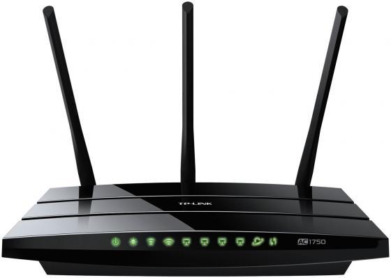 Беспроводной маршрутизатор TP-LINK Archer C7 AC1750 802.11acbgn 1750Mbps 5 ГГц 2.4 ГГц 4xLAN USB черный беспроводной маршрутизатор tp link tl wr942n 802 11bgn 450mbps 2 4 ггц 4xlan usb черный