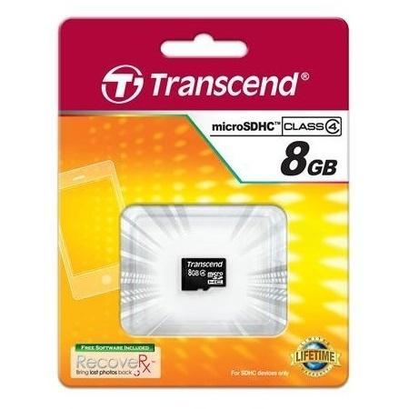Карта памяти Micro SDHC 8GB Class 4 Transcend TS8GUSDC4 карта памяти micro sdhc sony sr8nyat 8gb