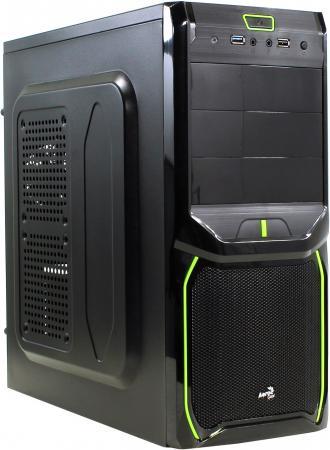 Корпус ATX Aerocool V3X Advance Evil Green Edition Без БП чёрный EN57356 eset nod32 антивирус platinum edition 3пк 2года