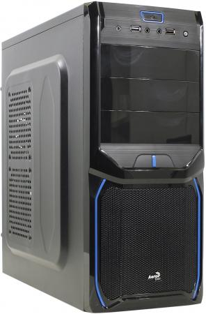 все цены на Корпус ATX Aerocool V3X Advance Evil Blue Edition Без БП чёрный синий EN57349