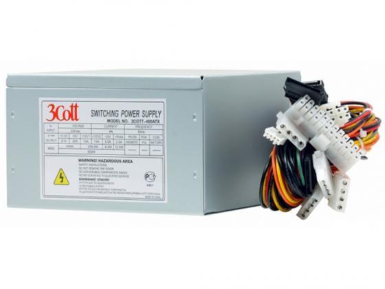 Блок питания ATX 400 Вт 3Cott 400ATX v2.0 блок питания atx 400 вт 3cott 3cott 400 evo2 v 2 3