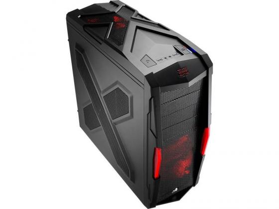 Корпус ATX Aerocool Strike-X Xtreme Black Edition Без БП чёрный красный EN52025 блок питания aerocool atx 500w strike x