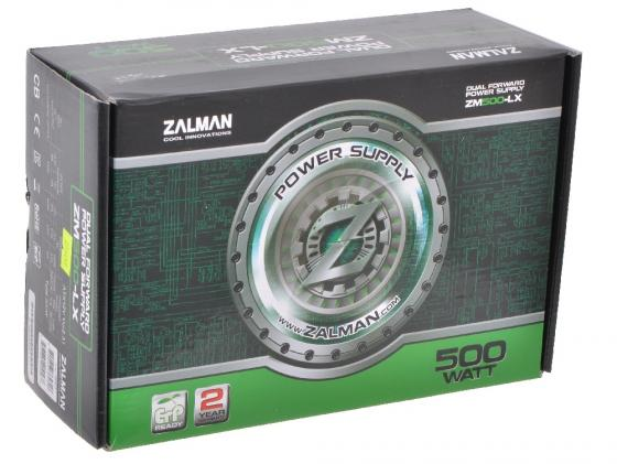 Блок питания ATX 500 Вт Zalman ZM500-LX блок питания atx 700 вт zalman zm700 lx