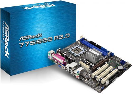 Материнская плата ASRock 775i65G R3.0/M/ASR Socket775 Intel 865G 2xDDR 1xAGP 3xPCI 2xSATA 5.1 Sound Glan D-Sub mATX Retail материнская плата asrock b150m pro4s s1151 b150 matx