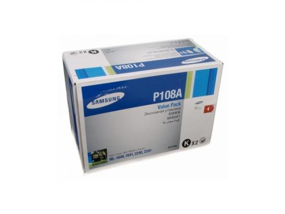 Картридж Samsung MLT-P108A двойной для ML-1640 1641 ML-2240 2241 картридж easyprint ls 108 для samsung ml 1640 1641 1645 2240 2241 чёрный 1500 страниц с чипом mlt d108s