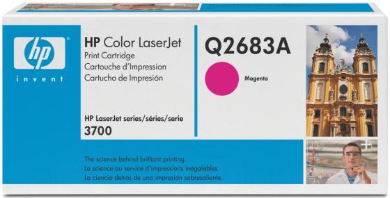 Картридж HP Q2683A для Сolor LaserJet 3700 6000 страниц Magenta Пурпурный картридж для принтера nv print для hp cf403x magenta