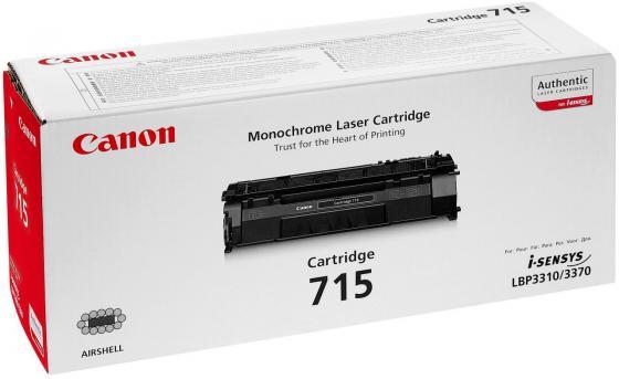 Картридж Canon 715 для i-SENSYS LBP-3310/3370 чёрный картридж t2 tc c712 для hp laserjet p1005 p1006 canon i sensys lbp 3010 3100 1500стр