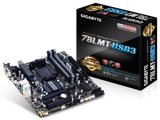 Материнская плата GigaByte GA-78LMT-USB3 Socket AM3+ 760G 4xDDR3 1xPCI-E 16x 1xPCI 1xPCI-E 1x 6xSATA II mATX Retail