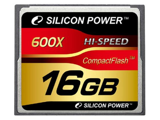 Карта памяти Compact Flash Card 16Gb Silicon Power 600x SP016GBCFC600V10