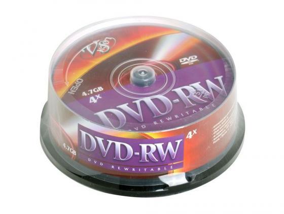 все цены на Диски DVD-RW VS 4x 4.7Gb CakeBox 25шт онлайн