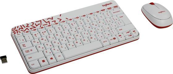 Комплект Logitech MK240 Nano белый USB 920-005791/920-008212 цена и фото