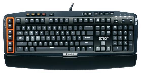 Клавиатура проводная Logitech G710+ Mechanical Gaming USB черный 920-005707 logitech g710