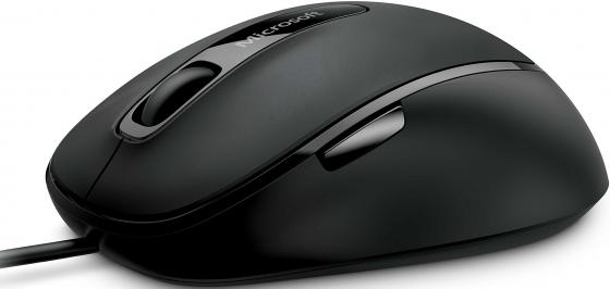 Мышь проводная Microsoft Comfort Mouse 4500 чёрный USB mike davis knight s microsoft business intelligence 24 hour trainer
