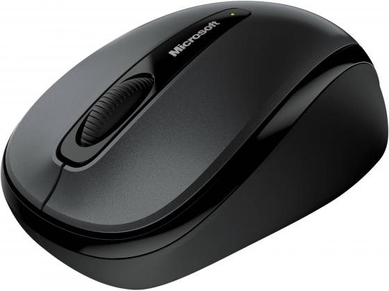 Мышь Microsoft Wireless Mobile Mouse 3500 Loch Ness Grey USB GMF-00289 мышь microsoft 3500 white gmf 00294 gmf 00294