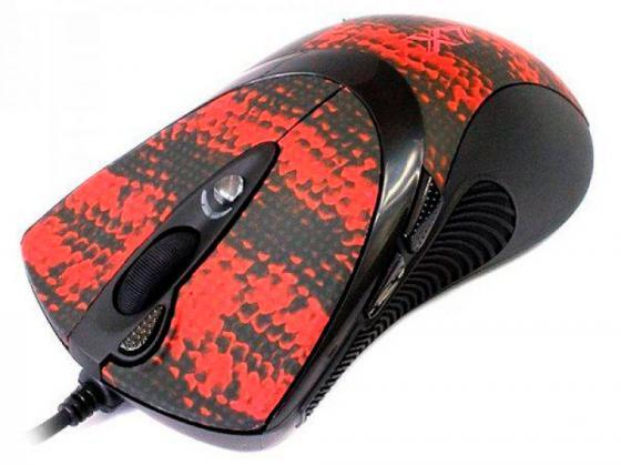 все цены на Мышь проводная A4TECH F7 V-Track Gaming Snake Coating чёрный рисунок USB онлайн