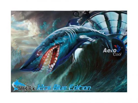 Вентилятор Aerocool Shark Blue Edition 120mm 800rpm 12.6 dBA синяя подсветка EN55420 вентилятор aerocool shark blue edition 120mm 800rpm 12 6 dba синяя подсветка en55420