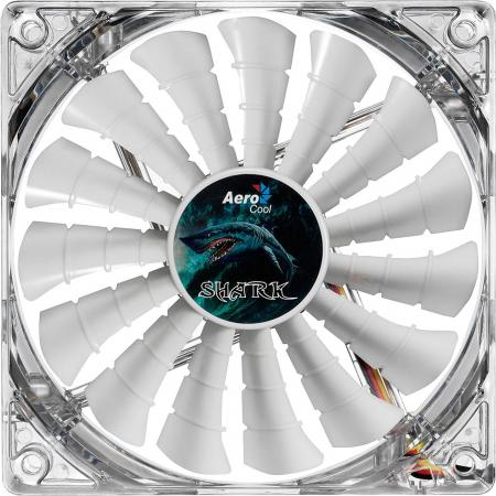 все цены на Вентилятор Aerocool Shark White Edition 140mm 800rpm 14.5 dBA белая подсветка EN55512