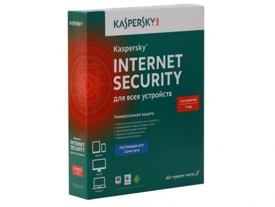 Антивирус Kaspersky Internet Security Multi-Device на 12 мес на 3 устройства коробка KL1941RBCFS kaspersky internet security 2014